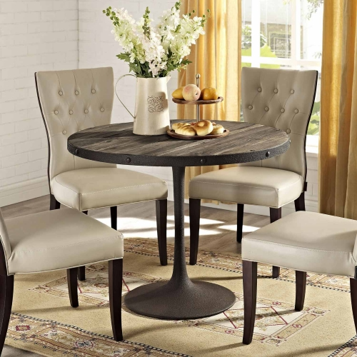 Drive Wood Top Dining Table - Brown