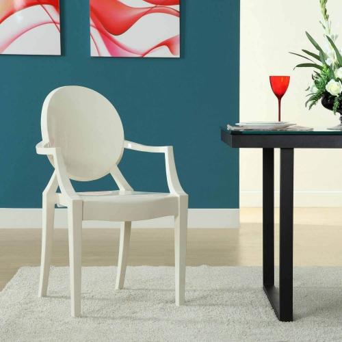 Casper Dining Armchair - White