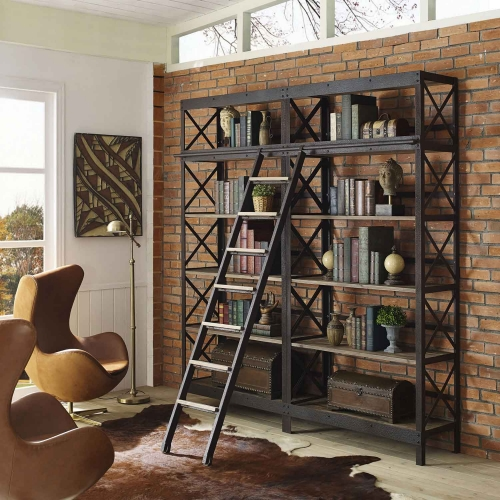 Headway Wood Bookshelf - Brown