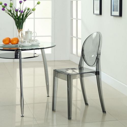Casper Dining Side Chair - Smoked Clear
