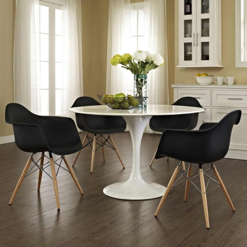 Pyramid Dining Armchair Set of 4 - Black