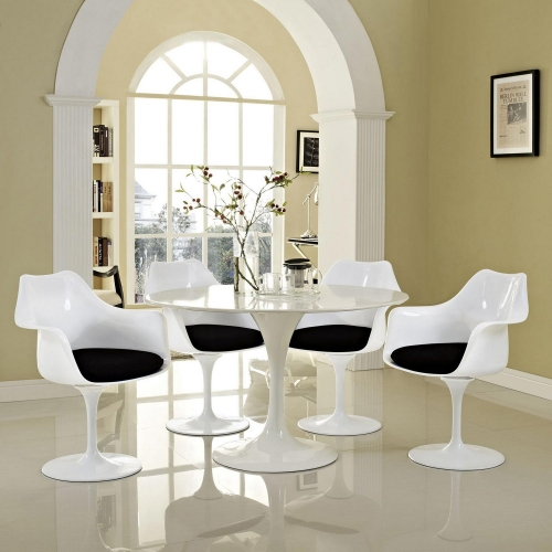 Lippa Dining Armchair Set of 4 - Black