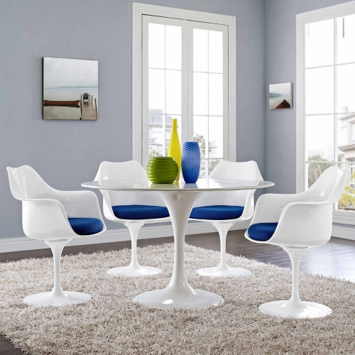 Lippa Dining Armchair Set of 4 - Blue