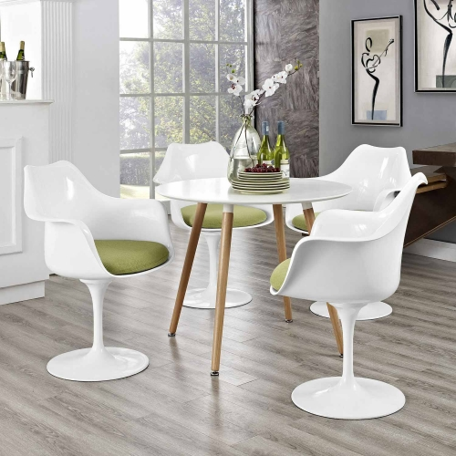Lippa Dining Armchair Set of 4 - Green