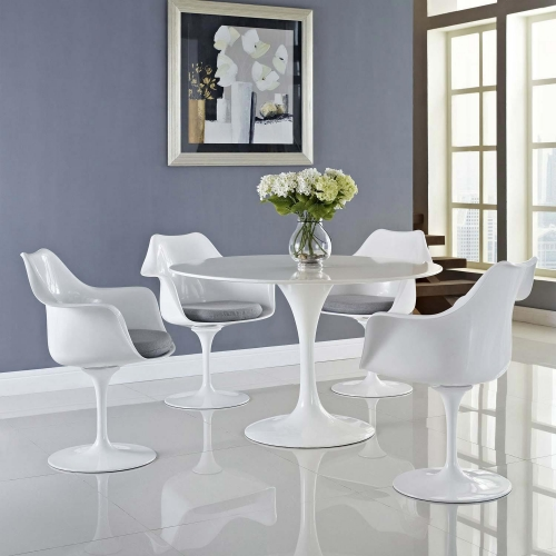 Lippa Dining Armchair Set of 4 - Gray