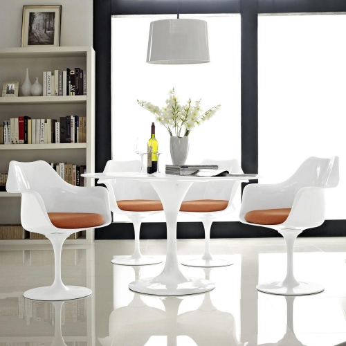 Lippa Dining Armchair Set of 4 - Orange
