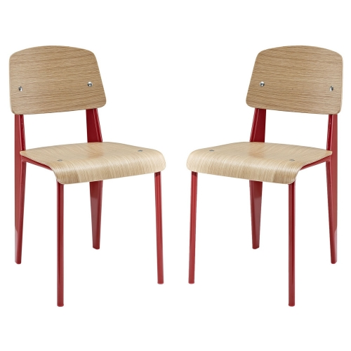 Cabin Dining Side Chair Set of 2 - Red