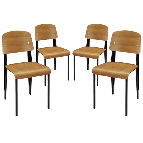 Cabin Dining Side Chair Set of 4 - Walnut