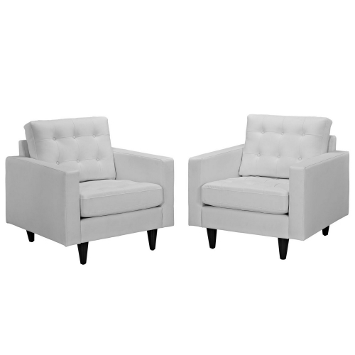 Empress Armchair Leather Set of 2 - White