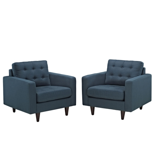 Empress Armchair Upholstered Set of 2 - Azure