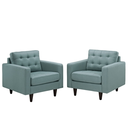 Empress Armchair Upholstered Set of 2 - Laguna