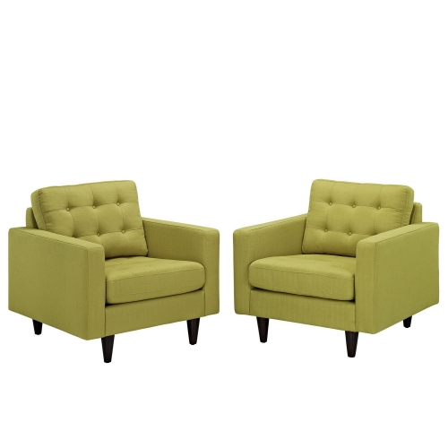 Empress Armchair Upholstered Set of 2 - Wheatgrass