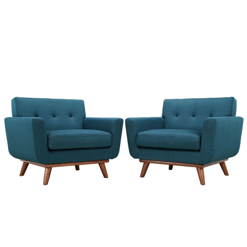 Engage Armchair Wood Set of 2 - Azure