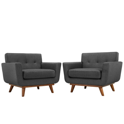 Engage Armchair Wood Set of 2 - Gray