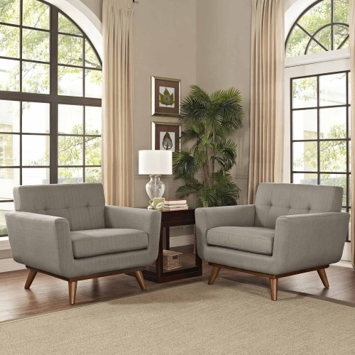 Engage Armchair Wood Set of 2 - Granite