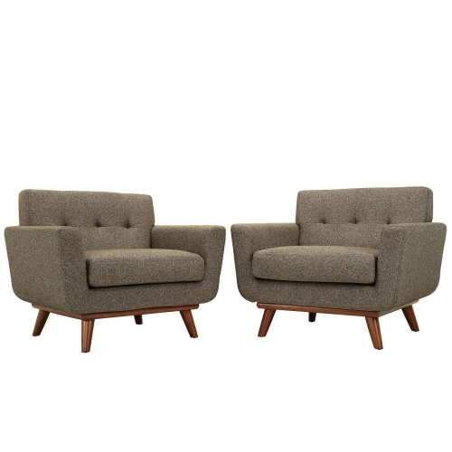 Engage Armchair Wood Set of 2 - Oatmeal