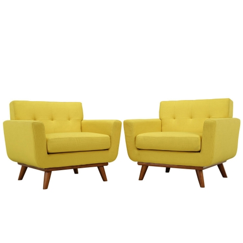Engage Armchair Wood Set of 2 - Sunny
