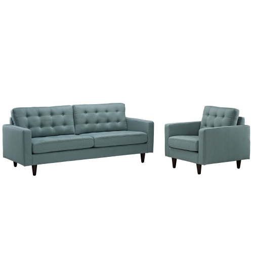 Empress 2PC Armchair and Sofa Set - Laguna