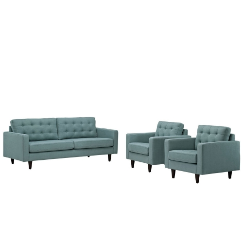 Empress 3PC Sofa and Armchairs Set - Laguna