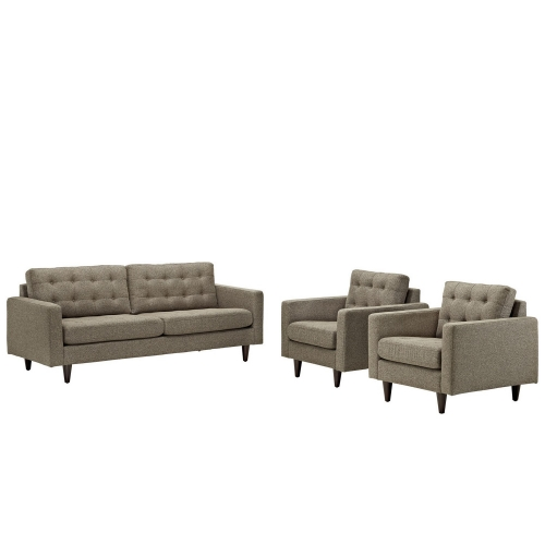 Empress 3PC Sofa and Armchairs Set - Oatmeal