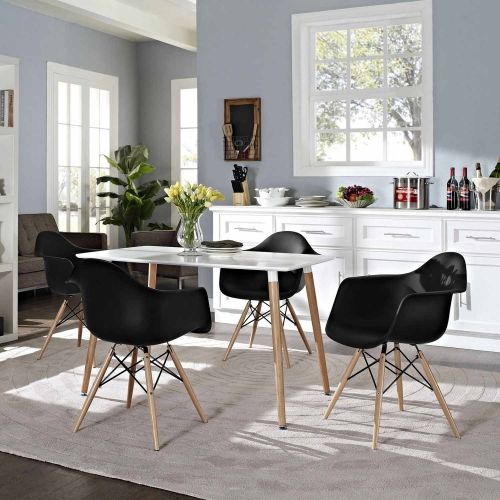 Pyramid 4Pc Dining Side Chairs Set - Black