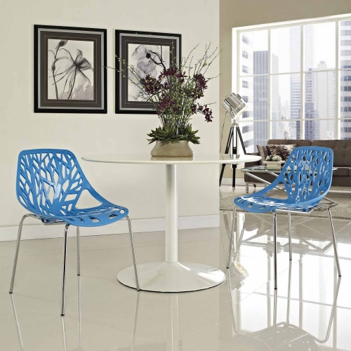 Stencil Dining Side Chair Set of 2 - Blue