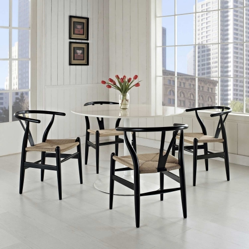 Amish 4PC Dining Armchair Set - Black