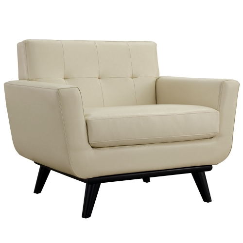 Engage Bonded Leather Armchair - Beige