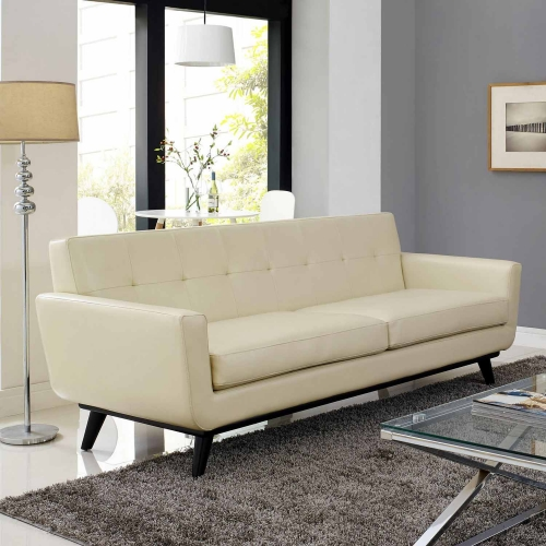Engage Bonded Leather Sofa - Beige