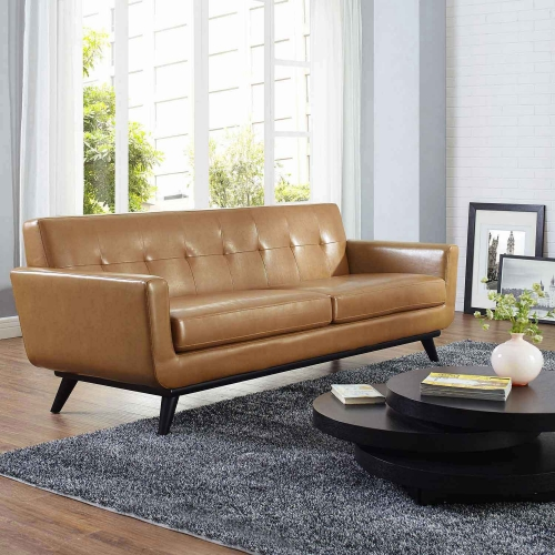 Engage Bonded Leather Sofa - Tan
