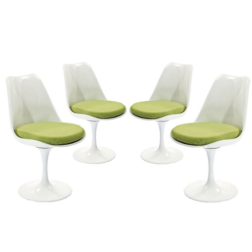 Lippa Dining Side Chair Fabric Set of 4 - Green