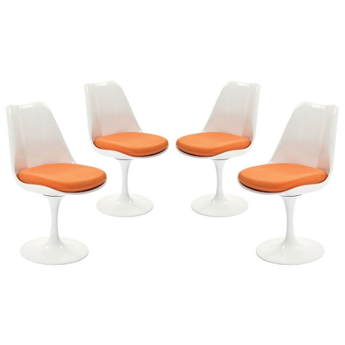 Lippa Dining Side Chair Fabric Set of 4 - Orange
