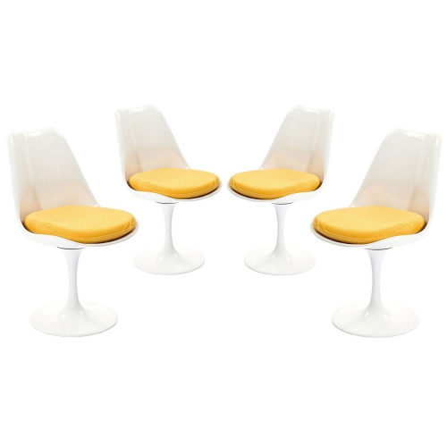 Lippa Dining Side Chair Fabric Set of 4 - Yellow