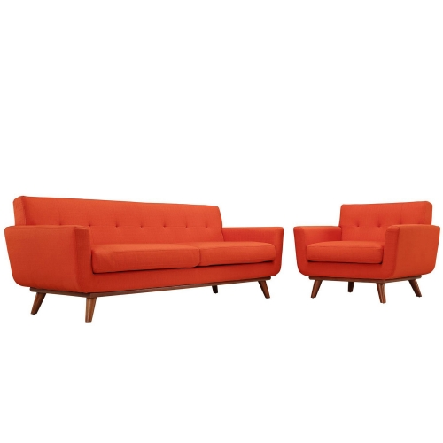 Engage Armchair and Sofa Set of 2 - Atomic Red