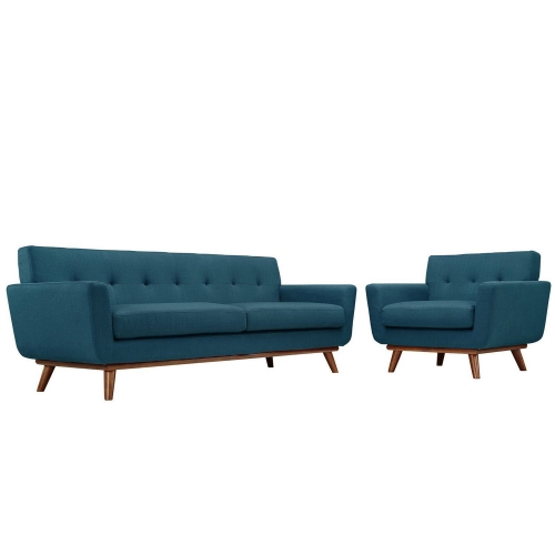 Engage Armchair and Sofa Set of 2 - Azure