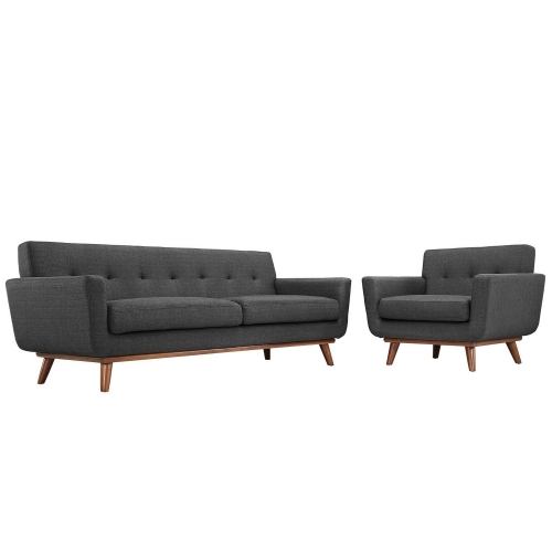 Engage Armchair and Sofa Set of 2 - Gray