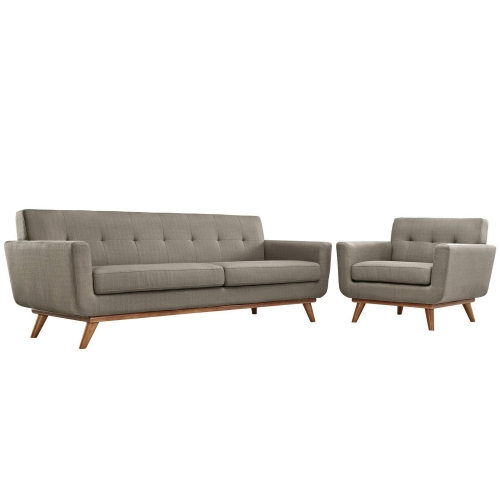 Engage Armchair and Sofa Set of 2 - Granite