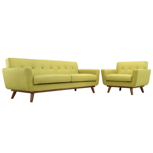 Engage Armchair and Sofa Set of 2 - Wheatgrass