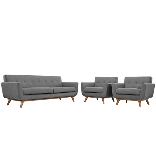 Engage Armchairs and Sofa Set of 3 - Gray