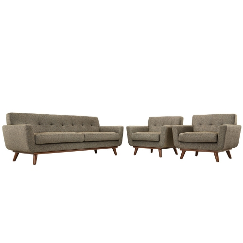 Engage Armchairs and Sofa Set of 3 - Oatmeal