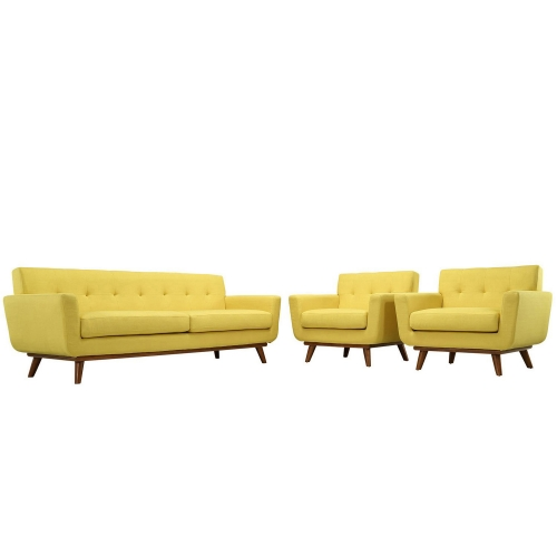 Engage Armchairs and Sofa Set of 3 - Sunny