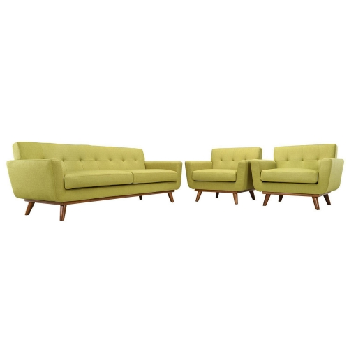 Engage Armchairs and Sofa Set of 3 - Wheatgrass