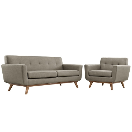 Engage Armchair and Loveseat Set of 2 - Granite