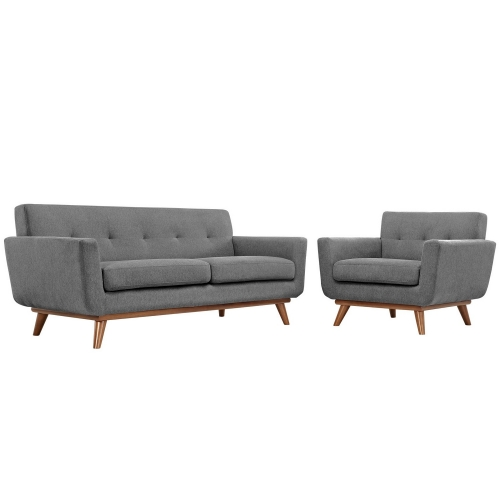 Engage Armchair and Loveseat Set of 2 - Gray