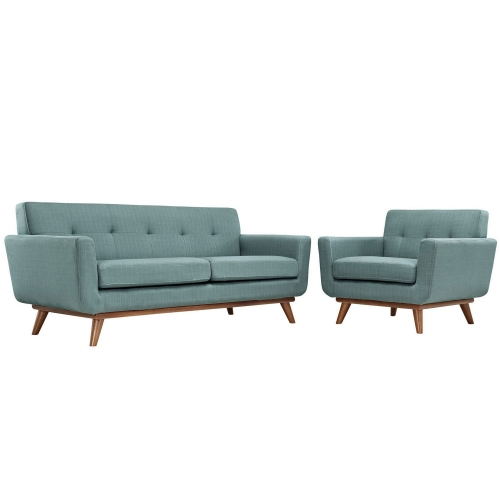 Engage Armchair and Loveseat Set of 2 - Laguna