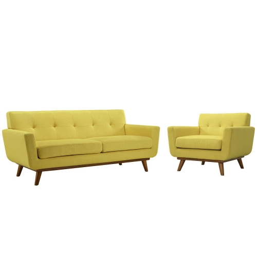 Engage Armchair and Loveseat Set of 2 - Sunny