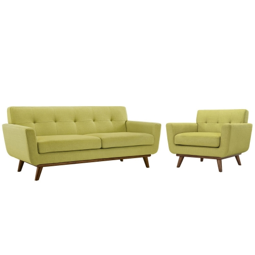 Engage Armchair and Loveseat Set of 2 - Wheat