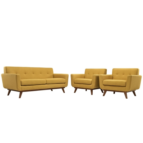 Engage Armchairs and Loveseat Set of 3 - Citrus