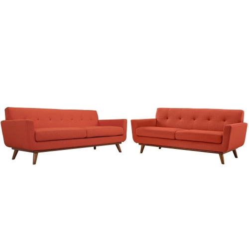Engage Loveseat and Sofa Set of 2 - Atomic Red