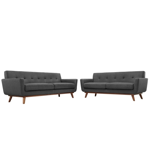 Engage Loveseat and Sofa Set of 2 - Gray
